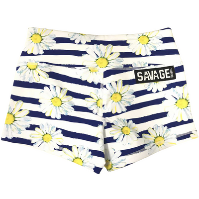 Booty Shorts - Sunshine Daisy Dukes - Savage Barbell