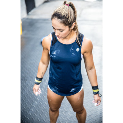 Yoga Tank Top - Navy Blue - Savage Barbell