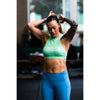 Sports Bra - High Neck Sea Foam - Savage Barbell