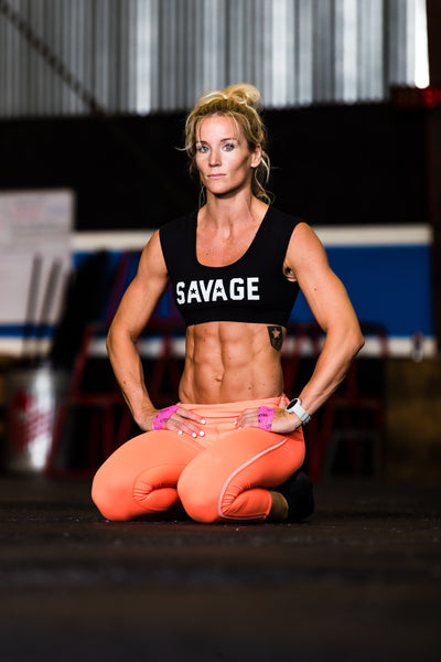 Capri Leggings - Orange Crush - Savage Barbell