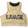 Sports Bra- High Neck Army - Savage Barbell