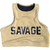 Sports Bra - High Neck Army - Savage Barbell