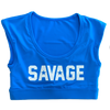 Sports Bra - Crop Tee Sports Bra - Sapphire Blue - Savage Barbell