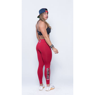 Leggings - Red - Savage Barbell