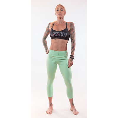 Capri Leggings - Sea Foam Green - Savage Barbell