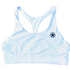 Sports Bra - Racerback ~ White - Savage Barbell