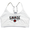 Sports Bra - Classic White - Savage Barbell