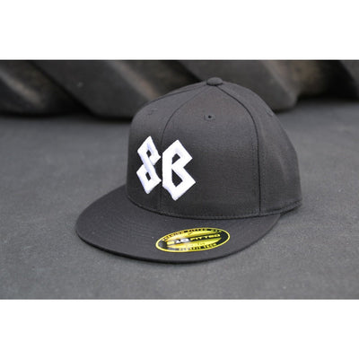 Hat - Premium Flat Bill Fitted - Black - Savage Barbell