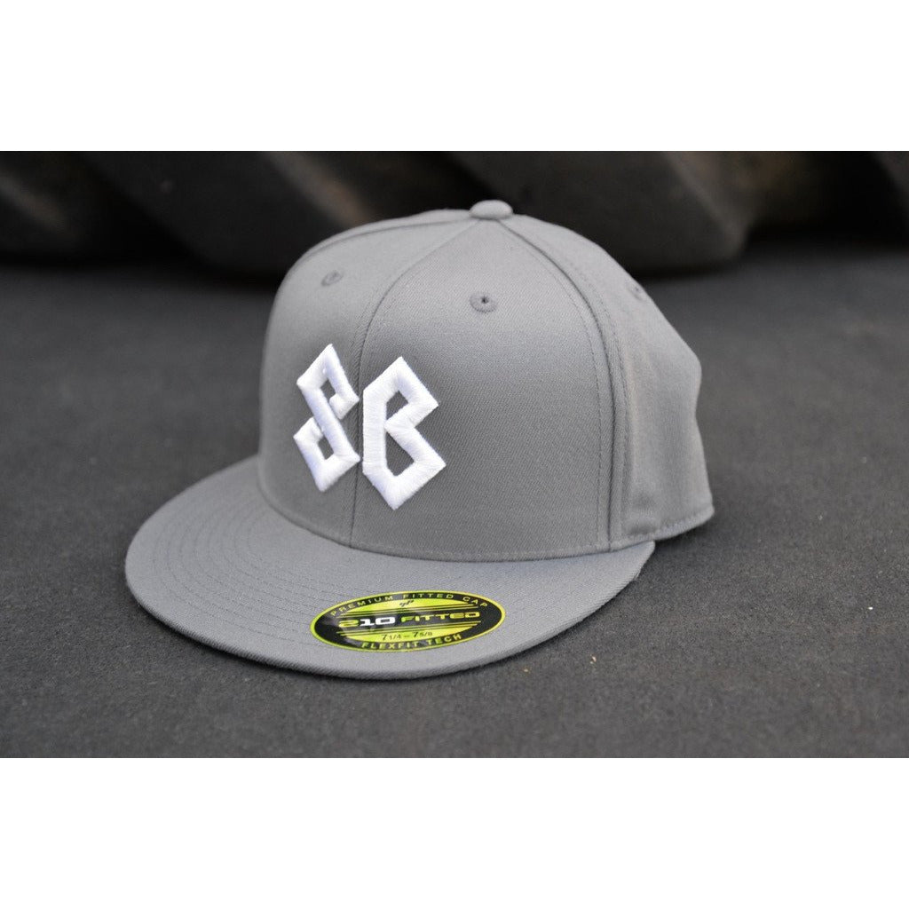 Hat - Premium Flat Bill Fitted - Gray - Savage Barbell