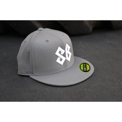 Hat - Premium Flat Bill Fitted - Gray - Savage Barbell Apparel