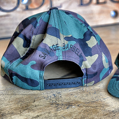 Hat - Black Star Camouflage / Snap Back - Savage Barbell