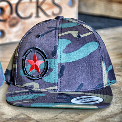 Hat - Red Star Camouflage /  Snap Back - Savage Barbell