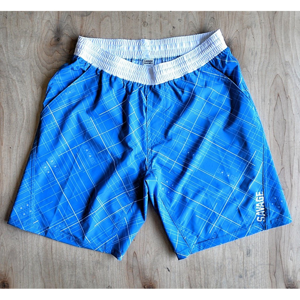 Gym Shorts - Tidal Blue Savage Barbell
