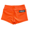 Booty Shorts - Fluorescent Orange - Savage Barbell