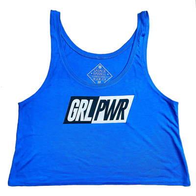 Crop Top - GRL PWR- Royal Blue - Savage Barbell