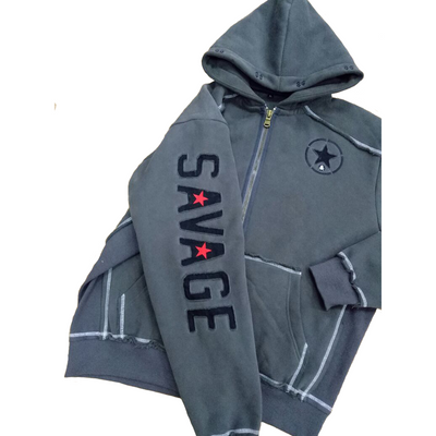 Full Size Hoodie - Charcoal - Savage Barbell Apparel