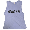 CrossBack Tank - Frosty Blue - Savage Barbell