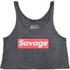Crop Top - Savage Box - Charcoal Gray - Savage Barbell