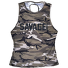 CrossBack Tank Top - Camo - Savage Barbell
