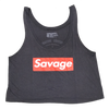 Crop Top - Savage Box - Dark Grey - Savage Barbell