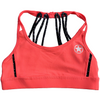 Sports Bra - 8 Strap Electric Coral & Black - Savage Barbell