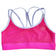 Sports Bra - 4-Strap Hot Pink & White