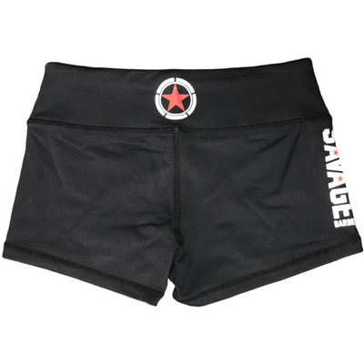 Booty Shorts - Black - Savage Barbell