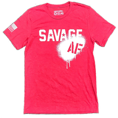 Mens T-Shirt - Savage AF - Savage Barbell