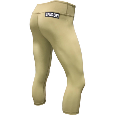 Capri Leggings - Army - Savage Barbell