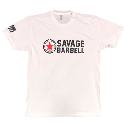 Men's T-shirt - Classic White - Savage Barbell