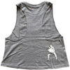 Crop Racer Back - Savage Stoner - Charcoal Gray - Savage Barbell