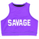 Sports Bra - High Neck Purple