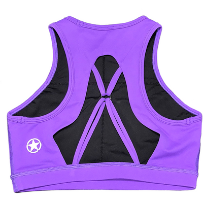 Sports Bra - High Neck Purple - Savage Barbell