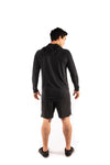 Mens Pull Over Hoodie - Black
