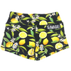 Booty Shorts - Lemon Drop - Black - Savage Barbell