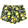 Booty Shorts - Lemon Drop - Black