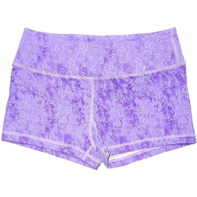 Booty Shorts - Purple Puppy Dog - Savage Barbell
