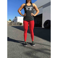 Leggings - Red - Savage Barbell Women's