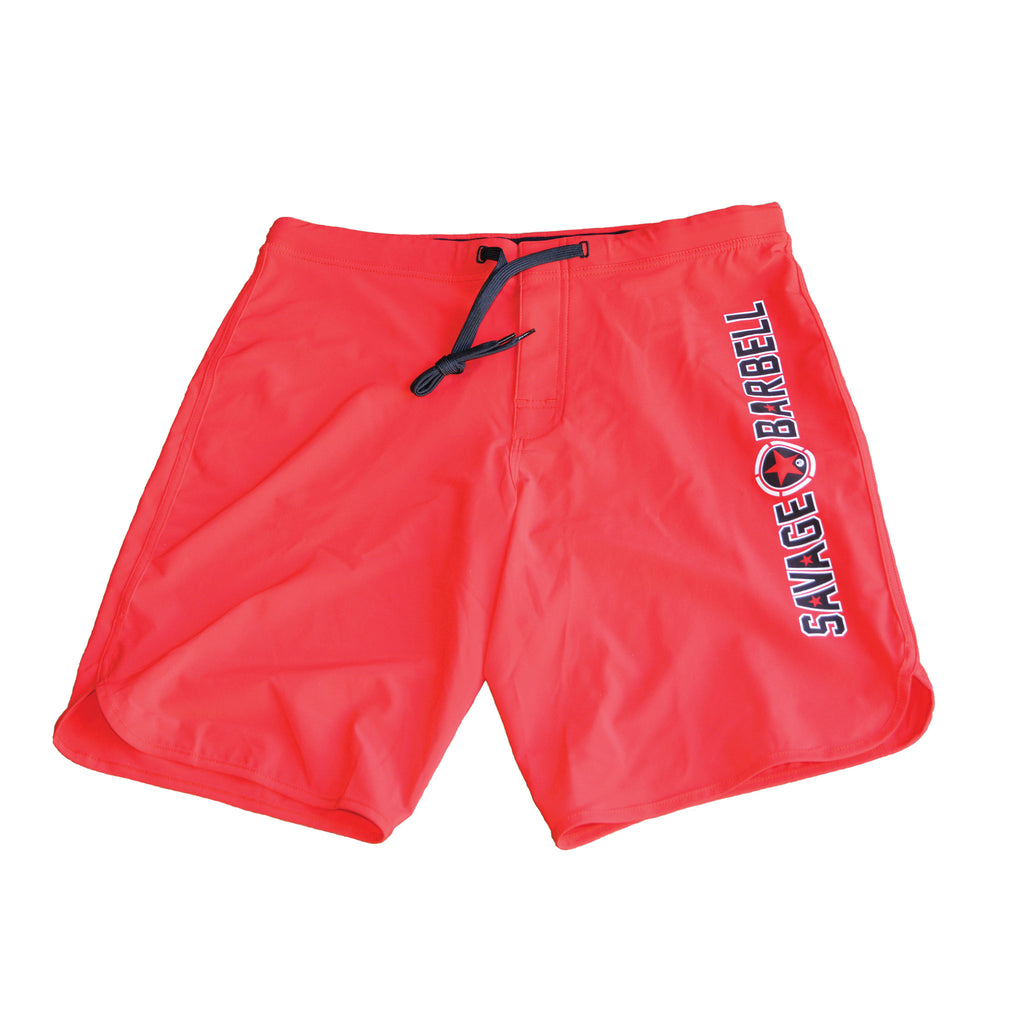 Hybrid Shorts - Red Savage Barbell
