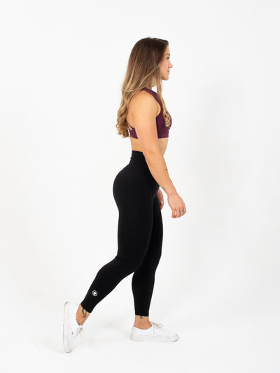 Leggings - High Waist Ankle Length - Black