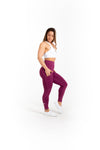 "24"" High Waist Leggings - Merlot - Savage Barbell"
