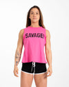 CrossBack Tank Top - Hot Pink - Savage Barbell