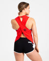 CrossBack Tank Top - Scarlet Red - Savage Barbell