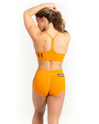 Viper Squad Sports Bra - Orange Striped - Savage Barbell