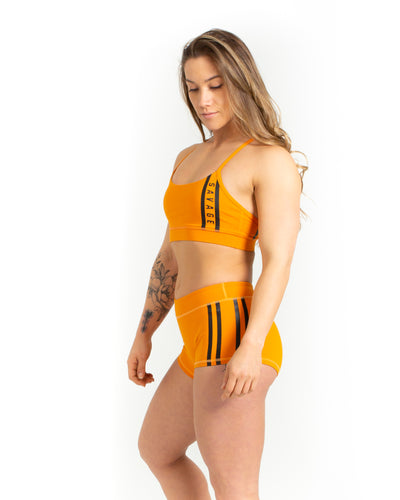 Sports Bra -Viper Squad - Orange - Savage Barbell