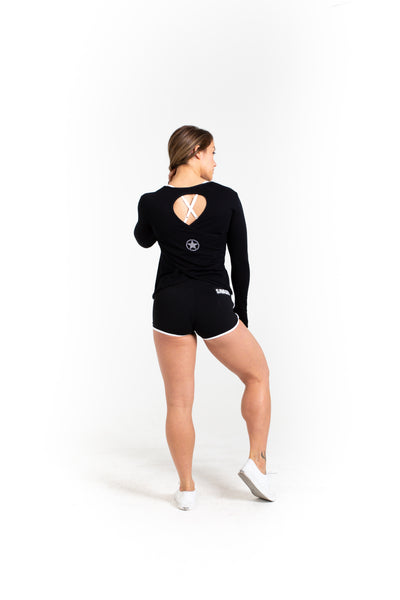 CrossBack Long Sleeve - Black - Savage Barbell Apparel