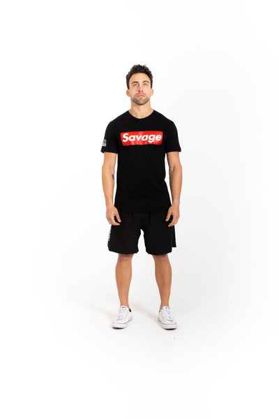 Men's T-Shirt - Savage Box - Black - Savage Barbell Apparel
