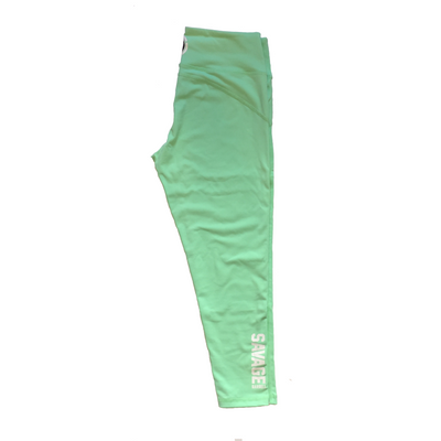 "21"" Capri Leggings - Sea Foam Green - Savage Barbell"