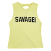 CrossBack Tank Top - Mellow Yellow - Savage Barbell