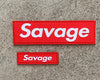 Savage Patch - Banner Mini- Red Box - Savage Barbell